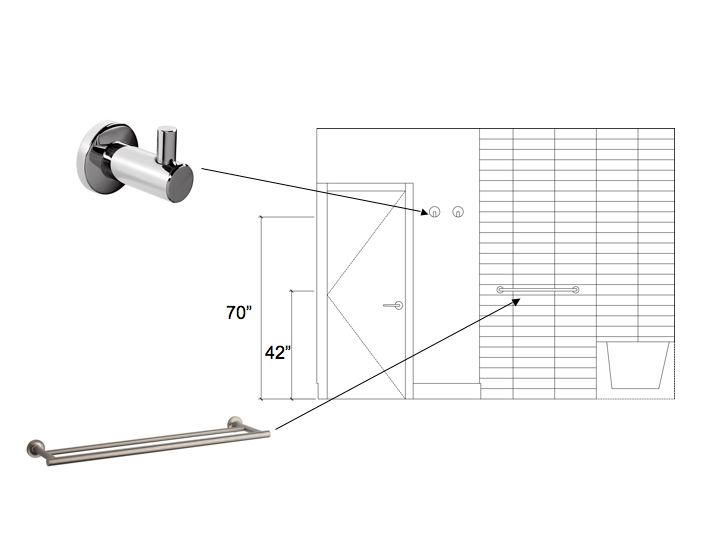 ada shower grab bar height ada bathroom dimensions best resolution