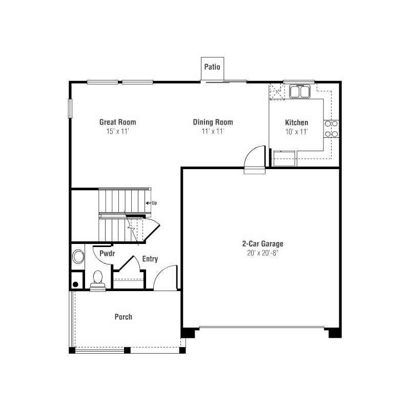 An in depth look at single family houses in denver slow - Front door opens to kitchen ...